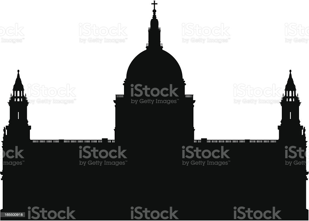 Saint Paul's Cathedral, London royalty-free stock vector art