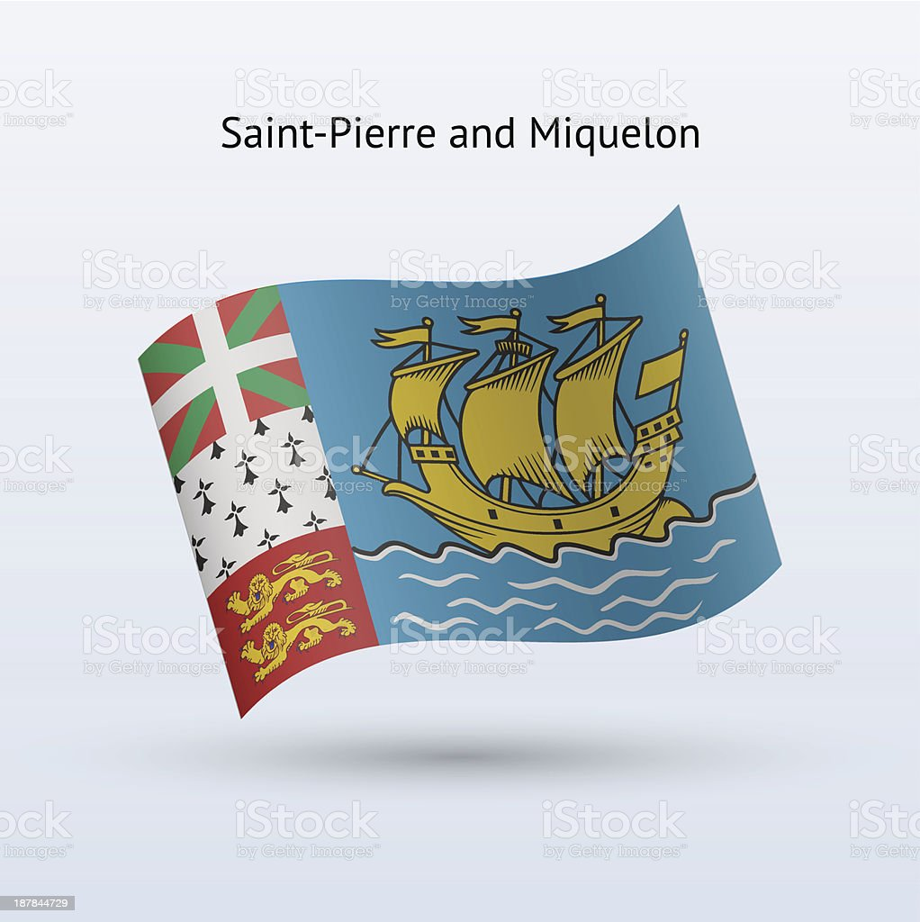 Saint-Pierre and Miquelon Flag royalty-free stock vector art