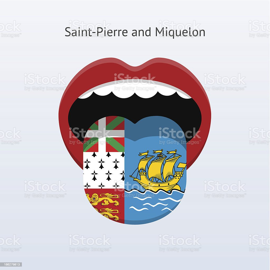Saint-Pierre and Miquelon language. royalty-free stock vector art