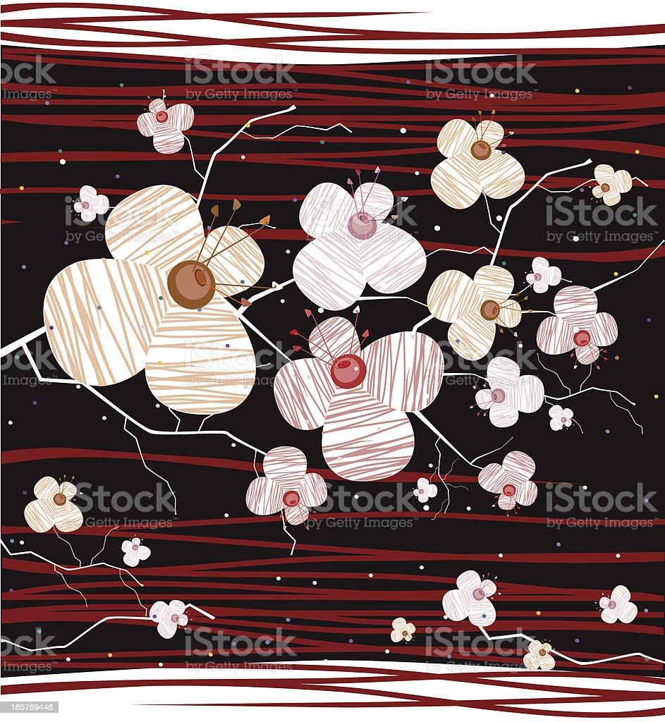 Sakura Blooming, Breath of Japanese Night royalty-free stock vector art
