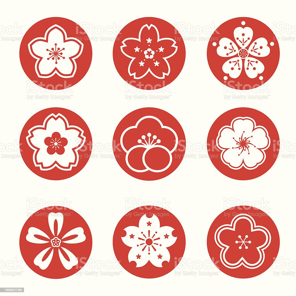 sakura graphic royalty-free stock vector art