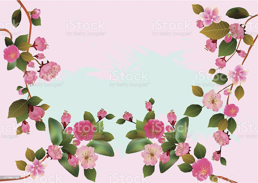 Sakura .  Spring . royalty-free stock vector art