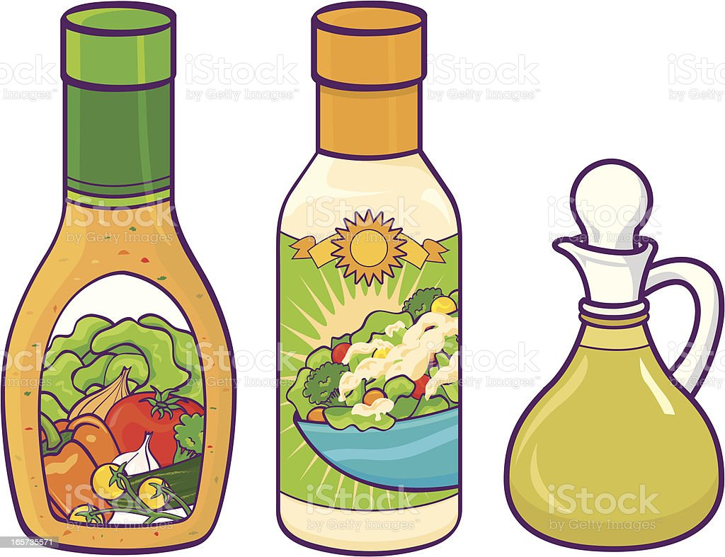Salad dressing vector art illustration