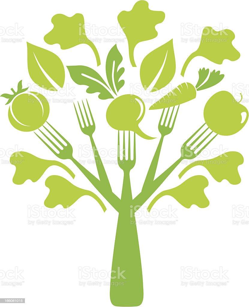 Salad tree royalty-free stock vector art