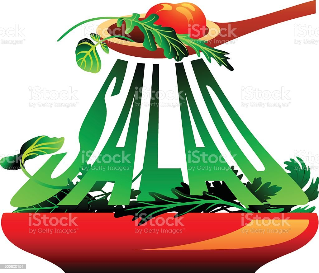 Salad vector art illustration