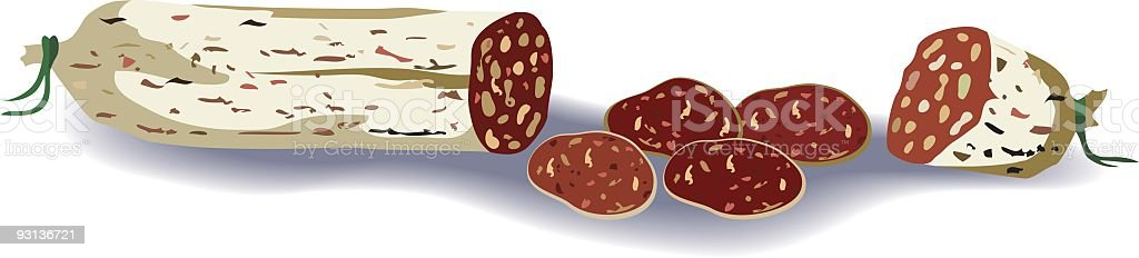 Salami Illustration vector art illustration