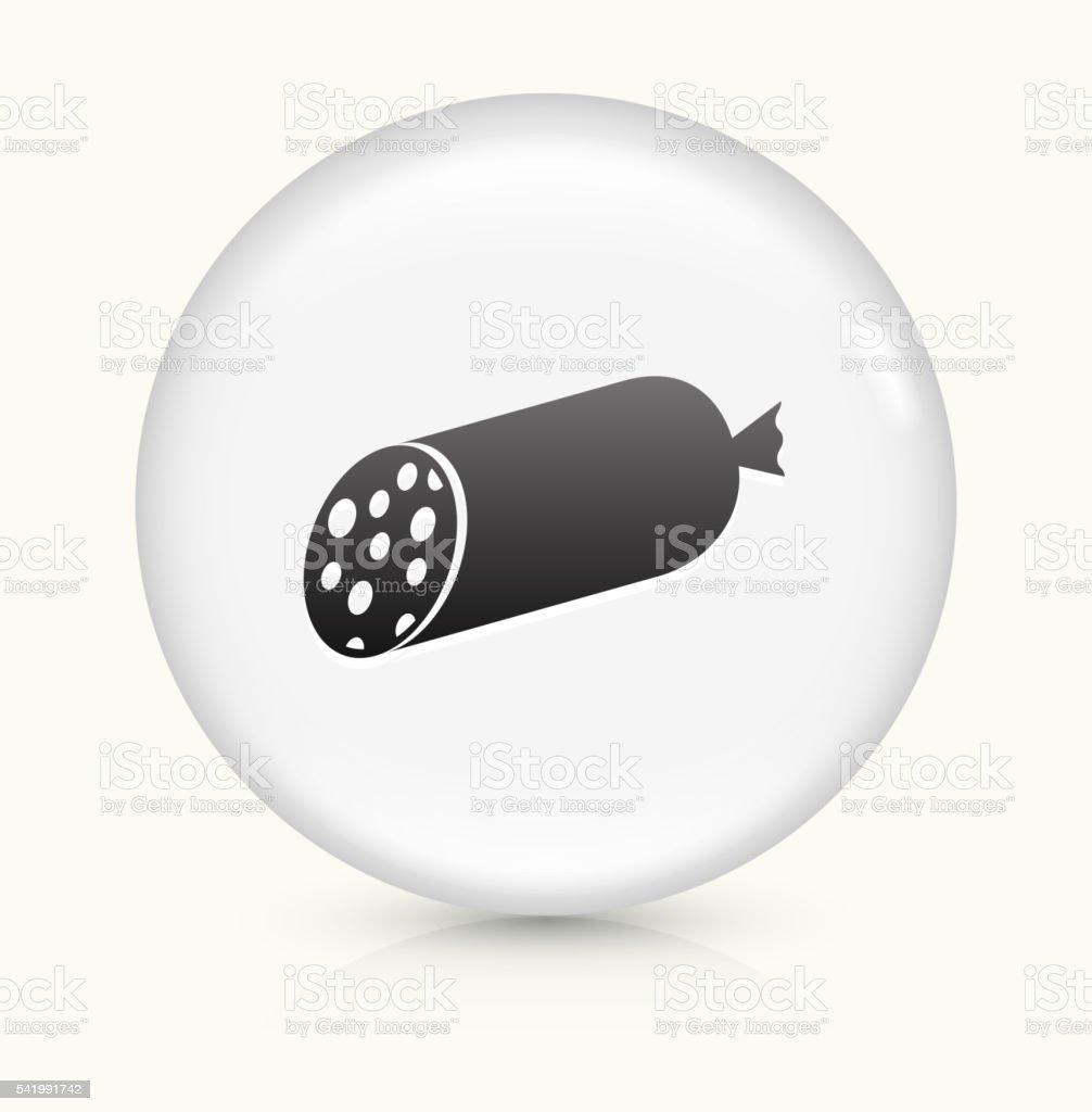 Salami Stick icon on white round vector button vector art illustration
