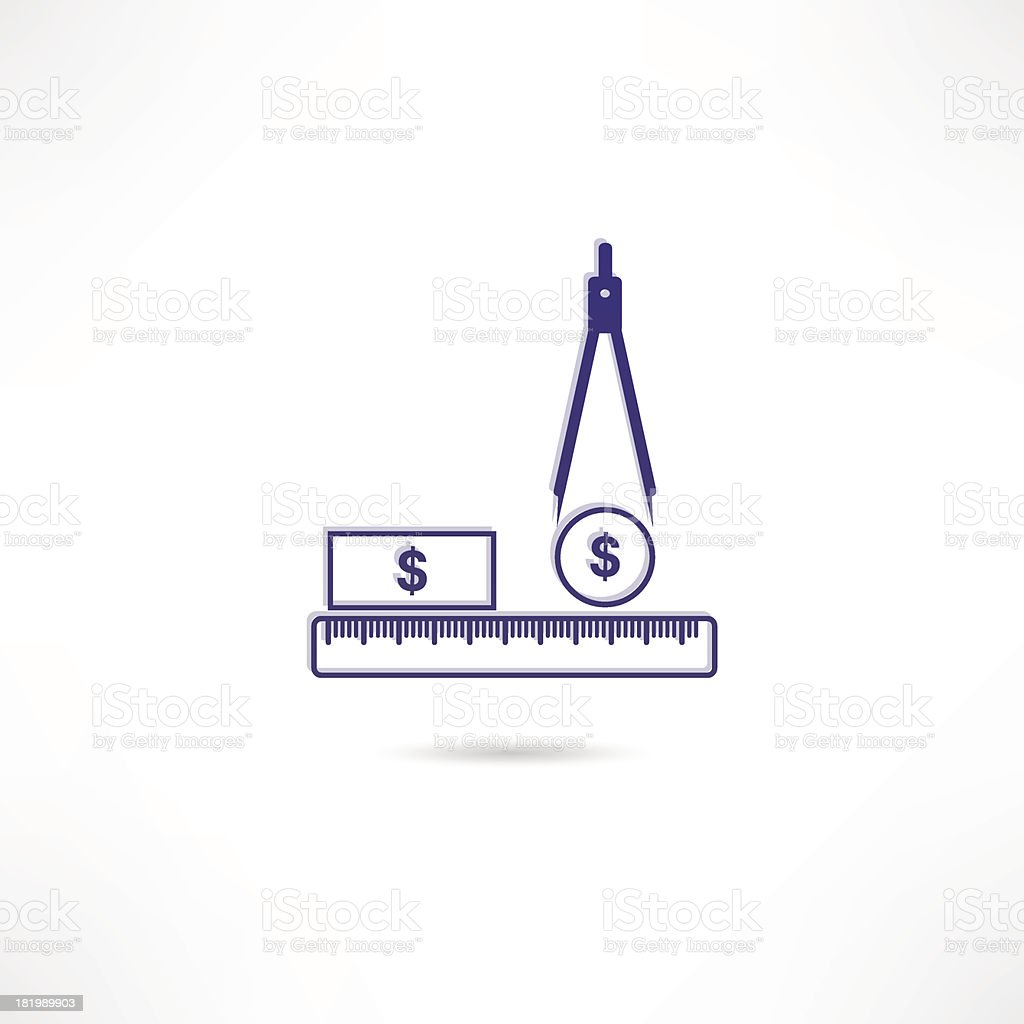 Salary icon royalty-free stock vector art