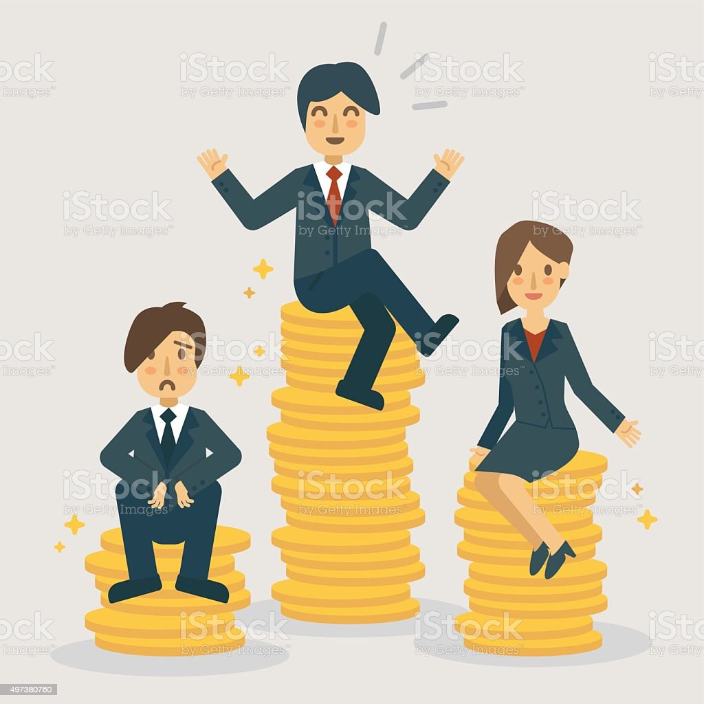 Salary Ranges and Position Grades. Business concept illustration vector art illustration