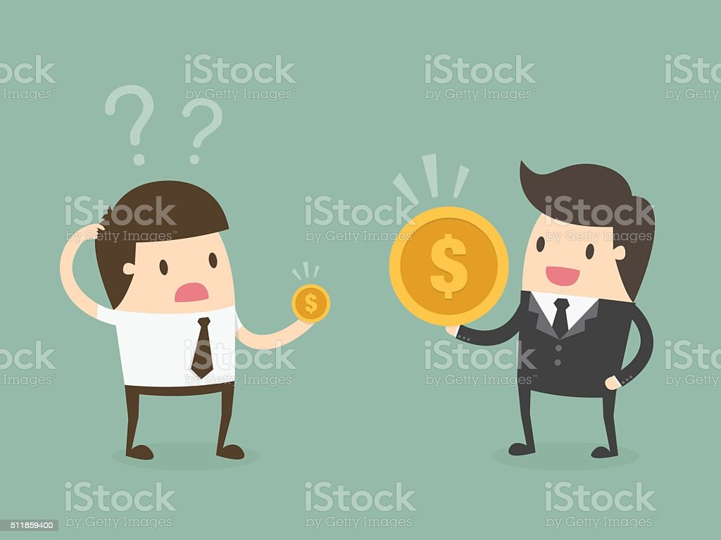 Salary variation. vector art illustration