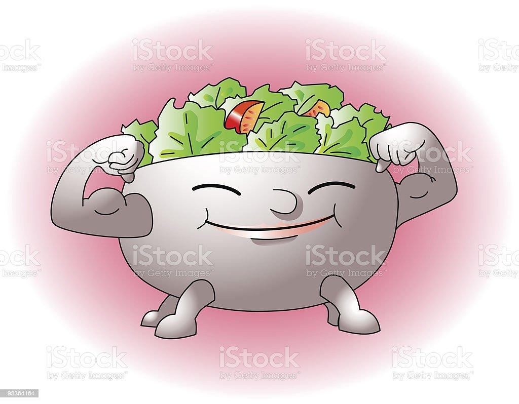 Salat royalty-free stock vector art