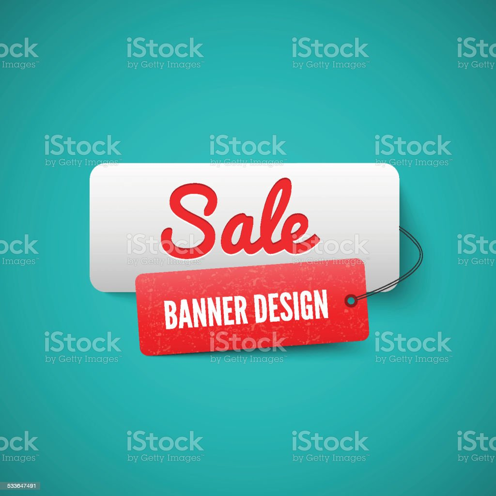 Sale 3D banner tag. Sales Labels concept. vector art illustration