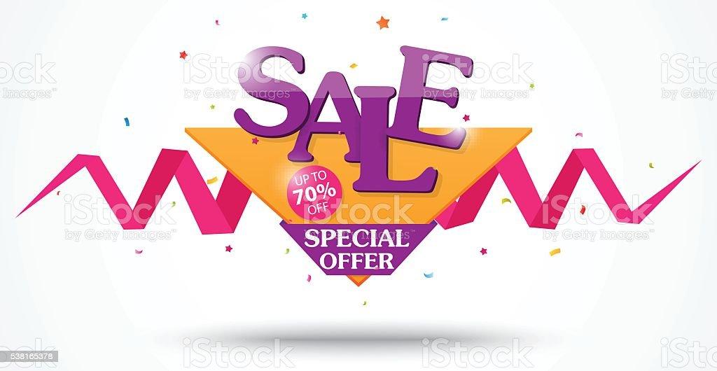 Sale Banner and Best Offer design vector art illustration