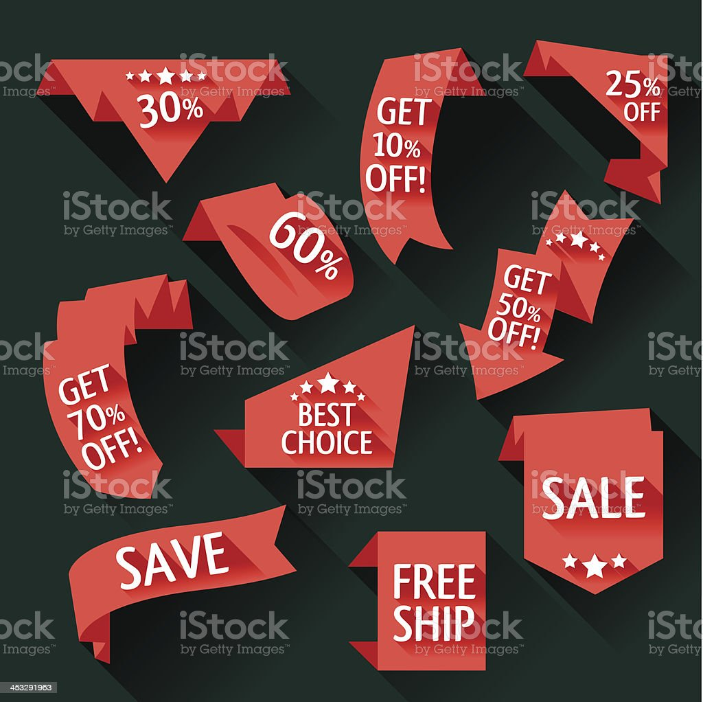 Sale bookmarks collection vector art illustration
