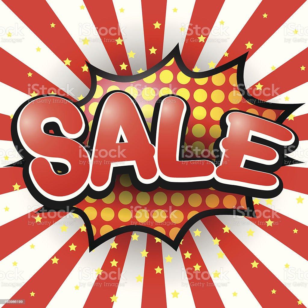 Sale. Comic Speech Bubble. Vector illustration. vector art illustration