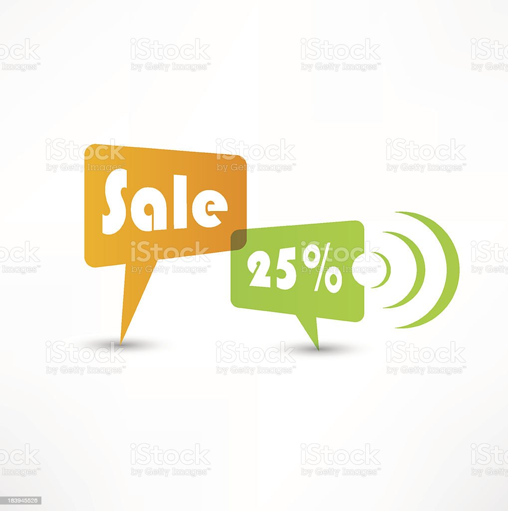 Sale concept speech bubbles royalty-free stock vector art