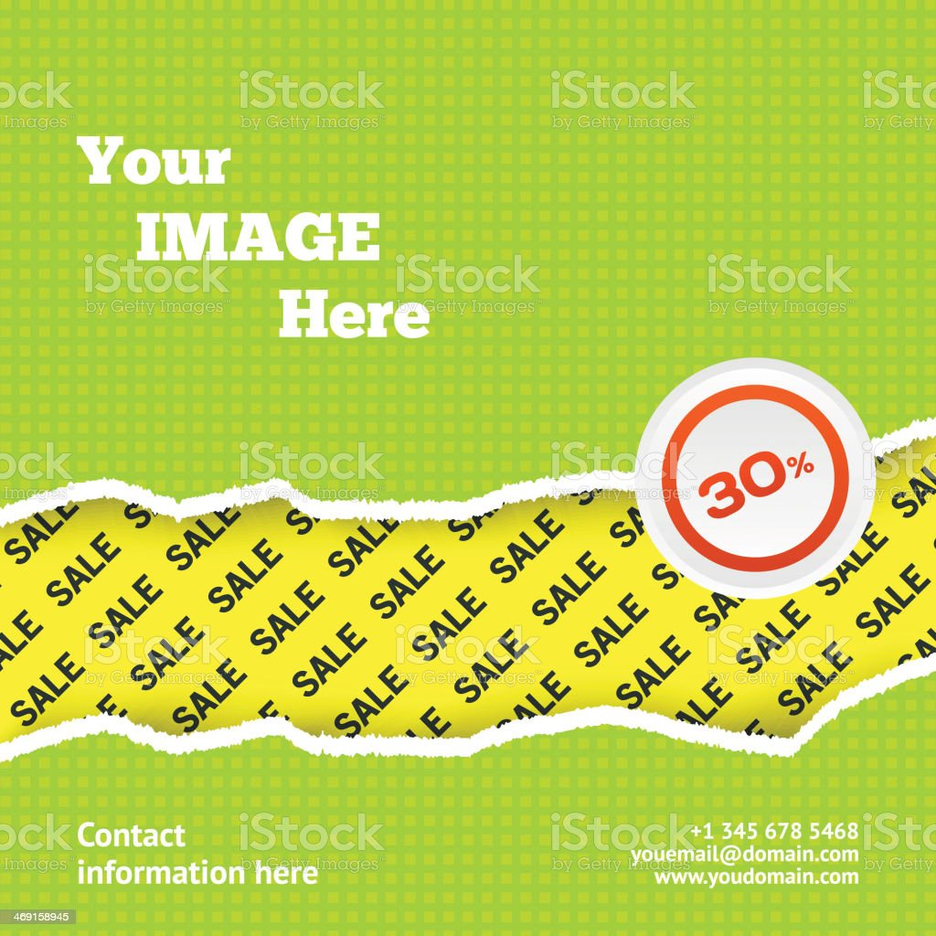 Sale design background with space for you image royalty-free stock vector art