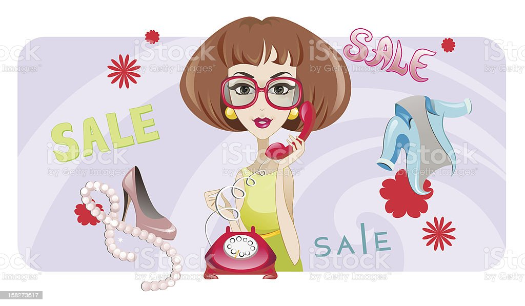 Sale / Fashion Woman royalty-free stock vector art