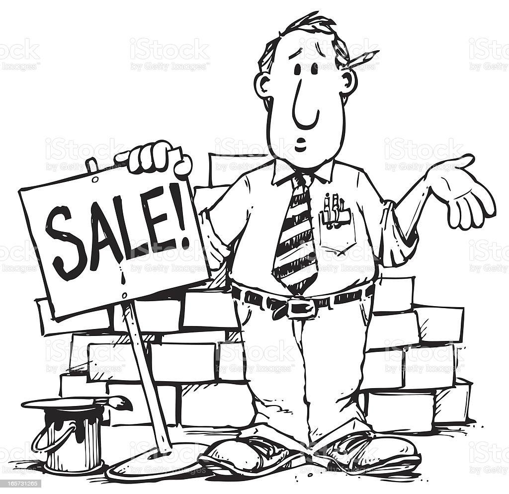Sale Guy royalty-free stock vector art