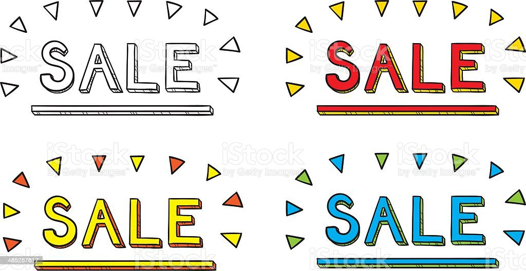 Sale Hand Drawn royalty-free stock vector art