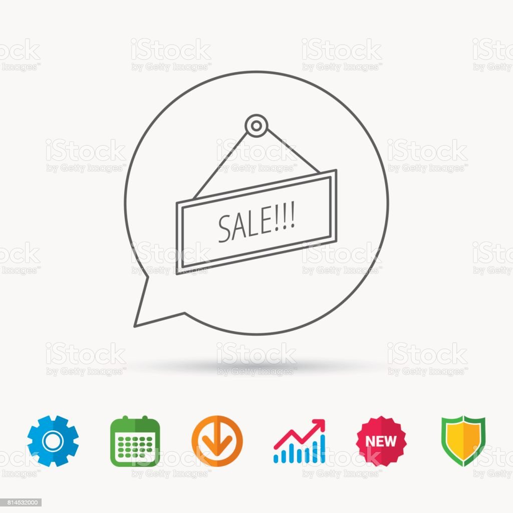 Sale icon. Advertising banner tag sign. vector art illustration