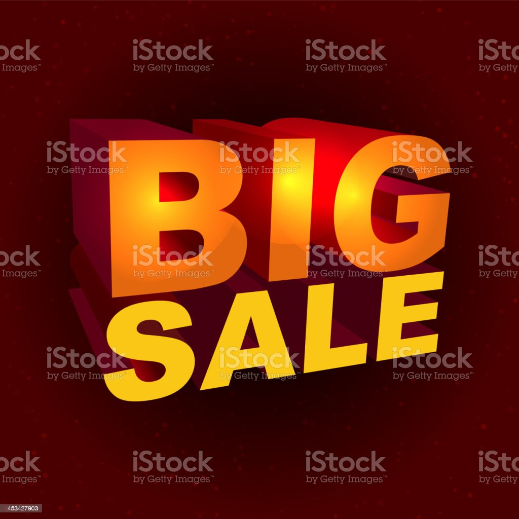 Sale label in 3d-style royalty-free stock vector art