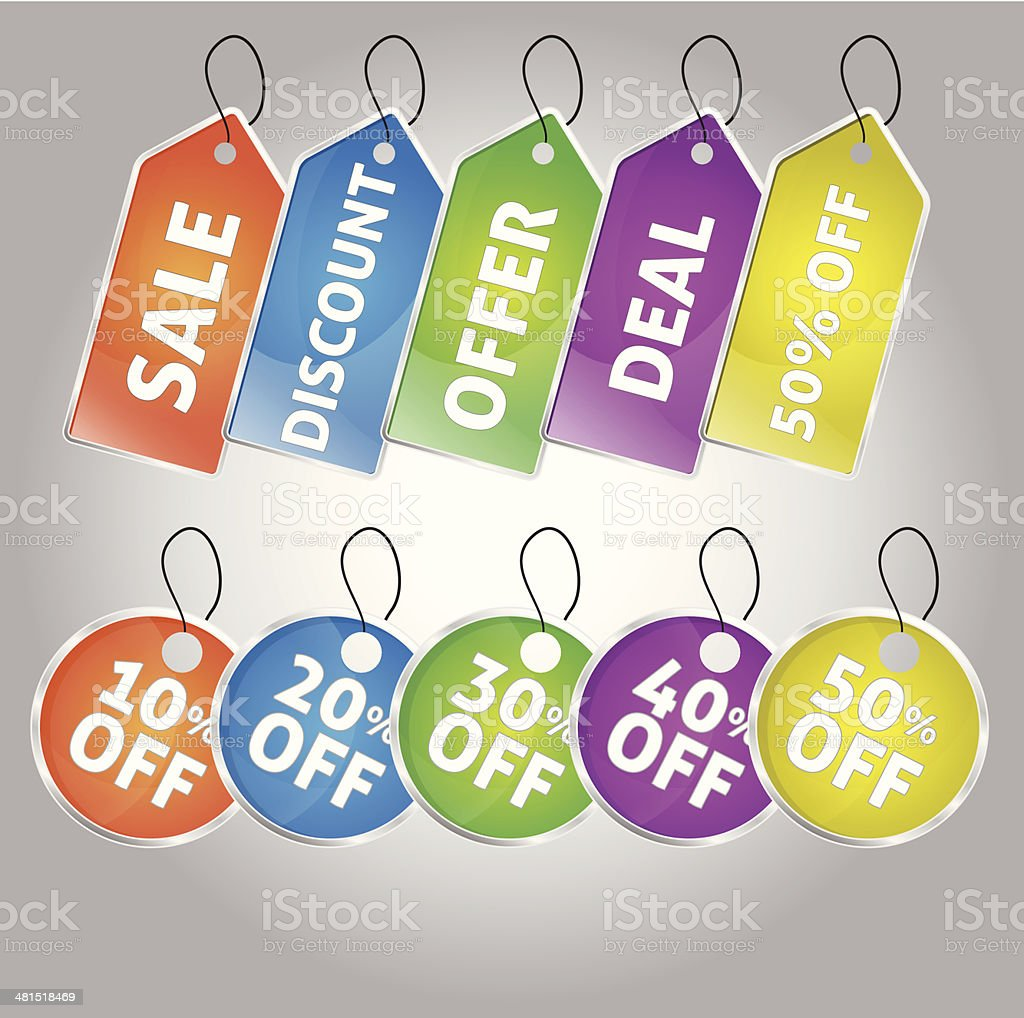 Sale Offer Tag icon vector art illustration