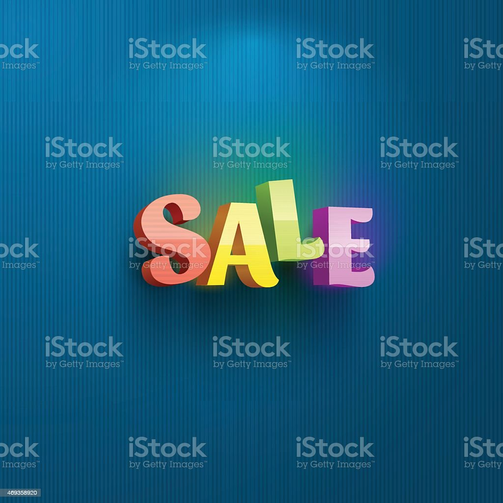 Sale placard for advertising text vector art illustration
