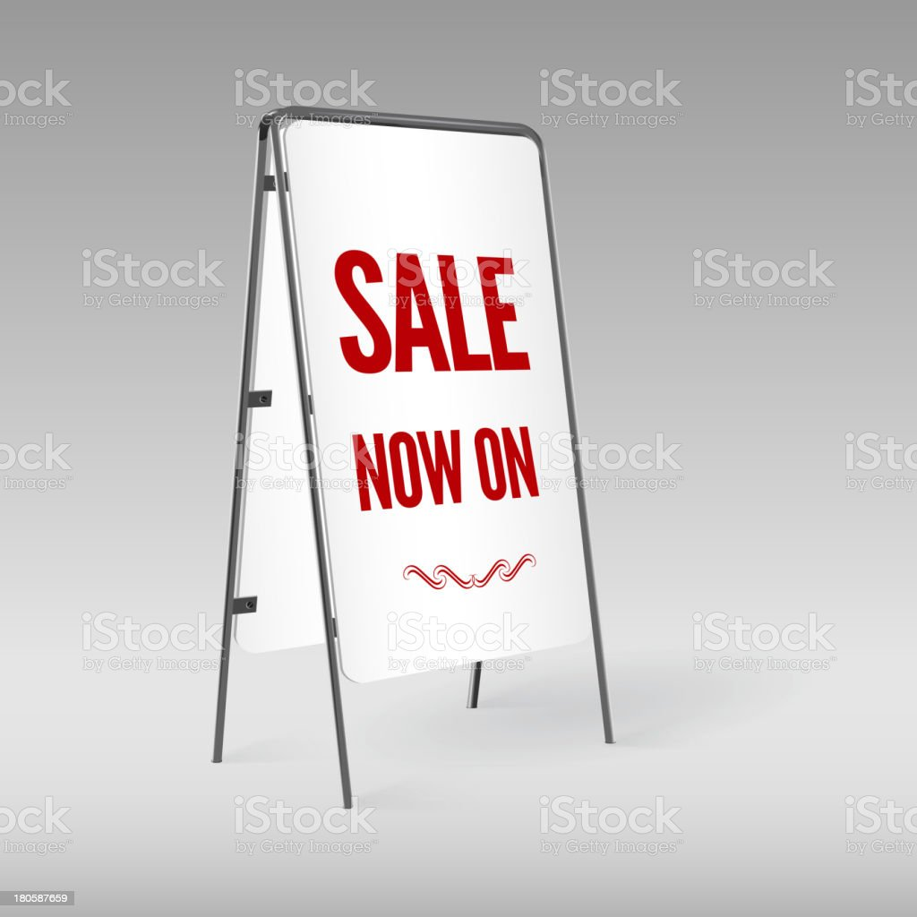 Sale poster, sandwich board isolated. royalty-free stock vector art