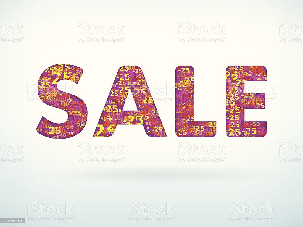 Sale poster with discount royalty-free stock vector art