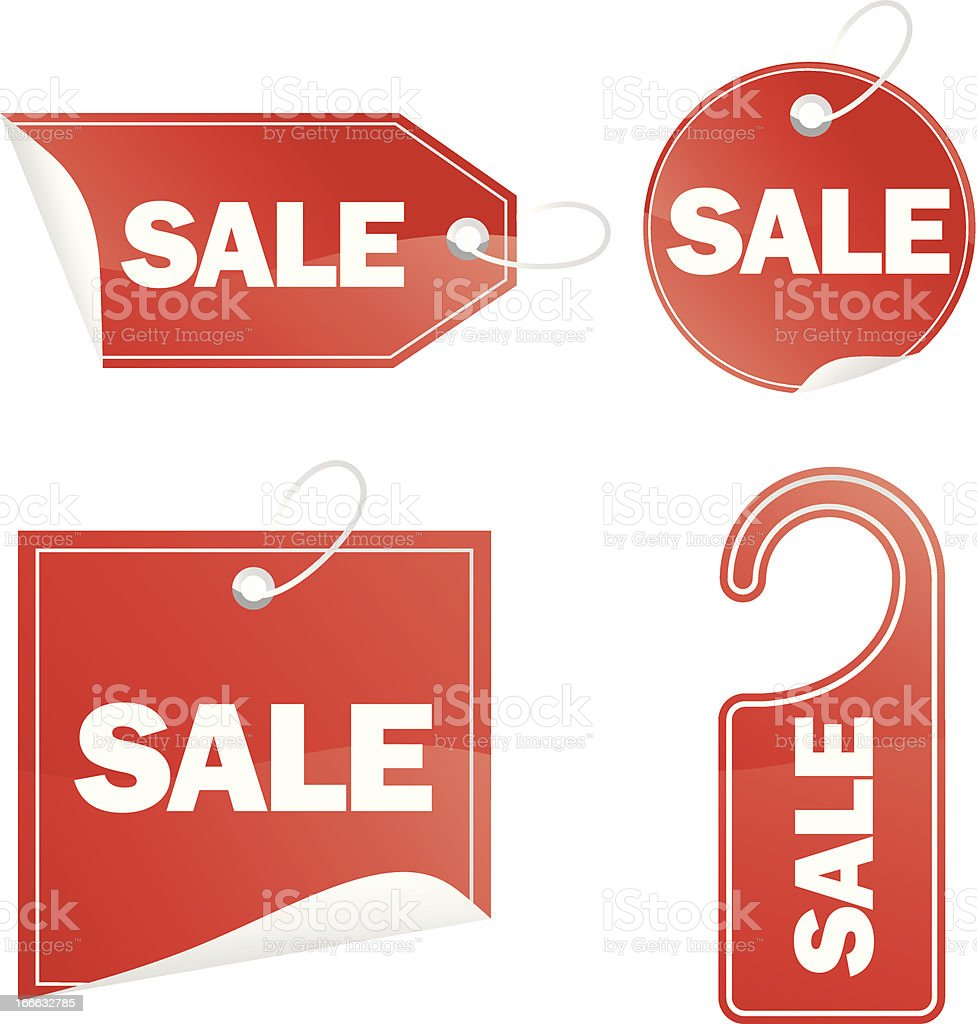 Sale red labels royalty-free stock vector art