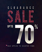 Sale Ruby Poster. 70 percent off, vector banner with red