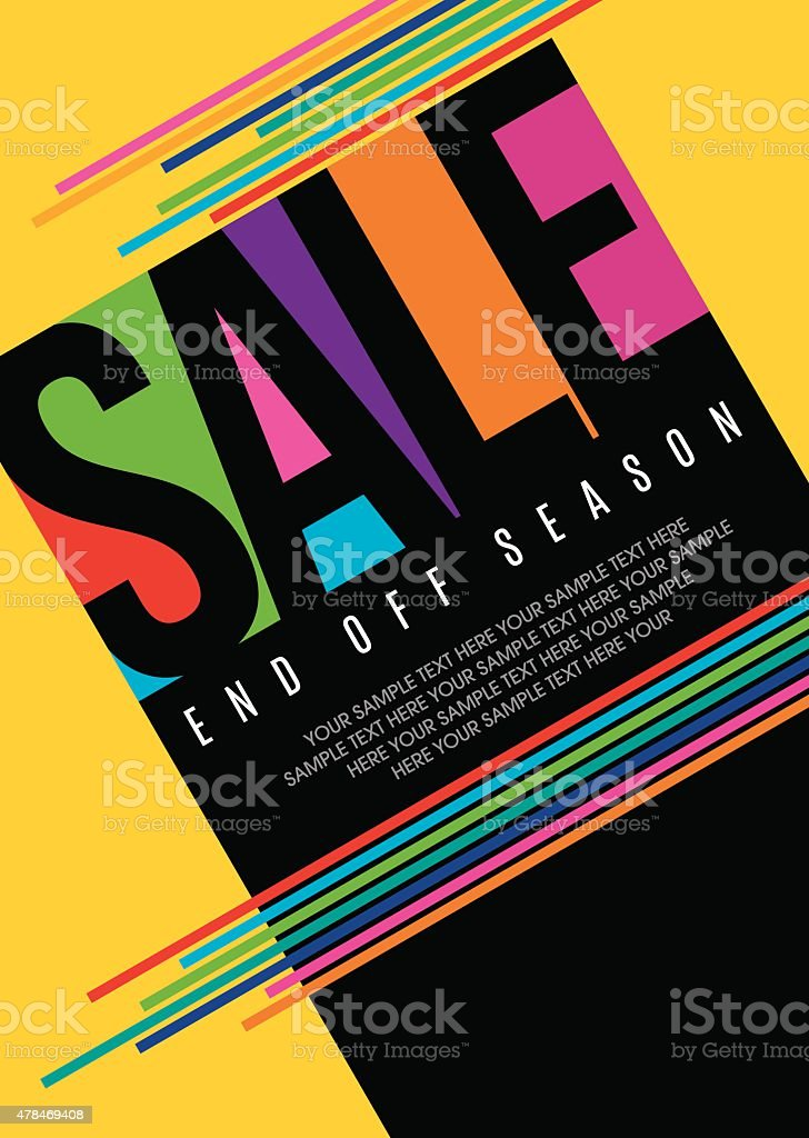 sale shopping background and label for business promotion vector art illustration