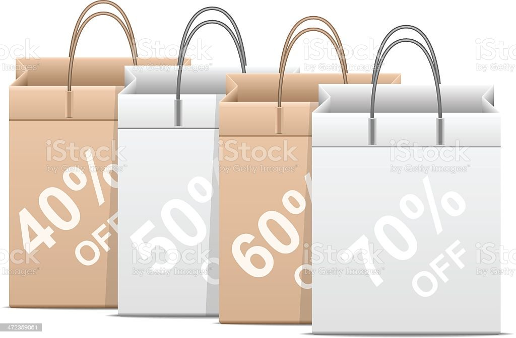 Sale Shopping Bag royalty-free stock vector art