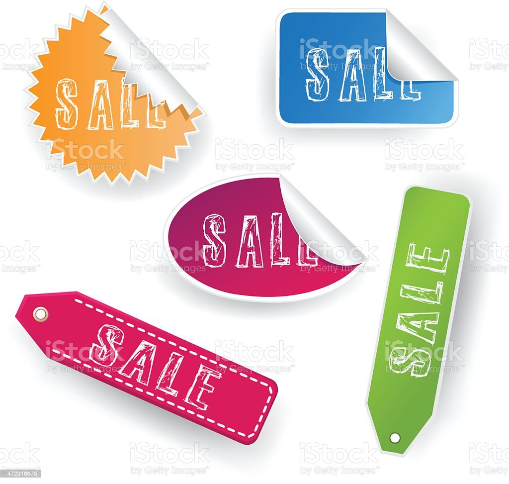 Sale Stickers royalty-free stock vector art