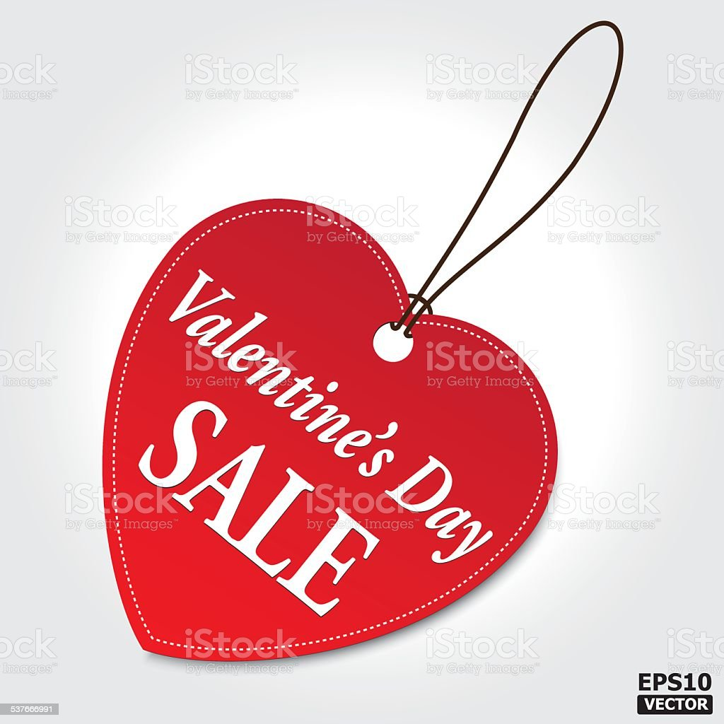 VALENTINE'S DAY Sale tag. EPS10 vector royalty-free stock vector art