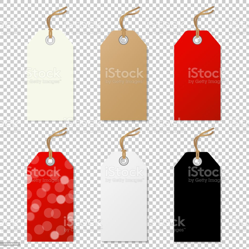 Sale Tags Collection vector art illustration