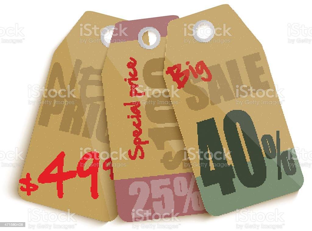 Vente tags conception stock vecteur libres de droits libre de droits