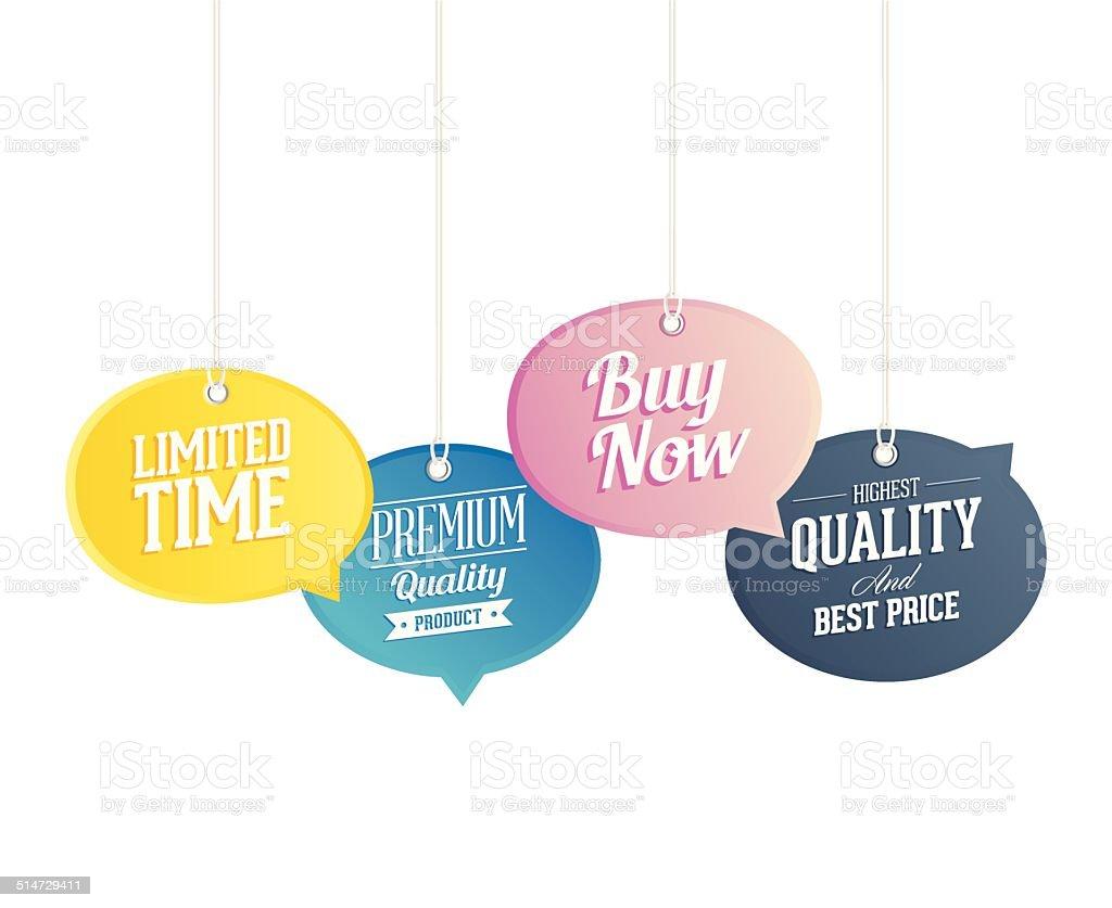 Sale Tags vector art illustration