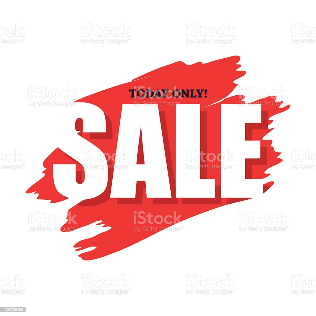 Sale today only flat icon vector art illustration