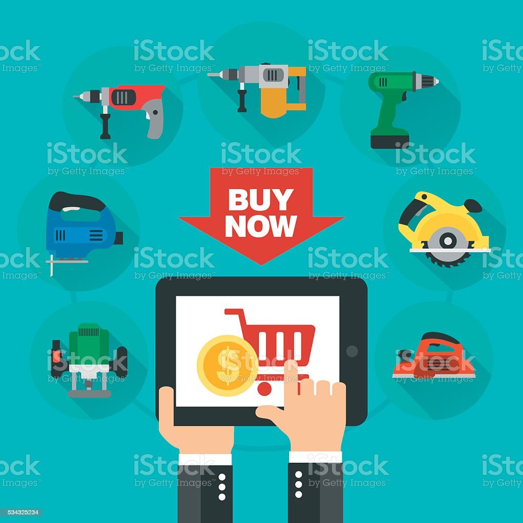 Sale tools design flat vector art illustration
