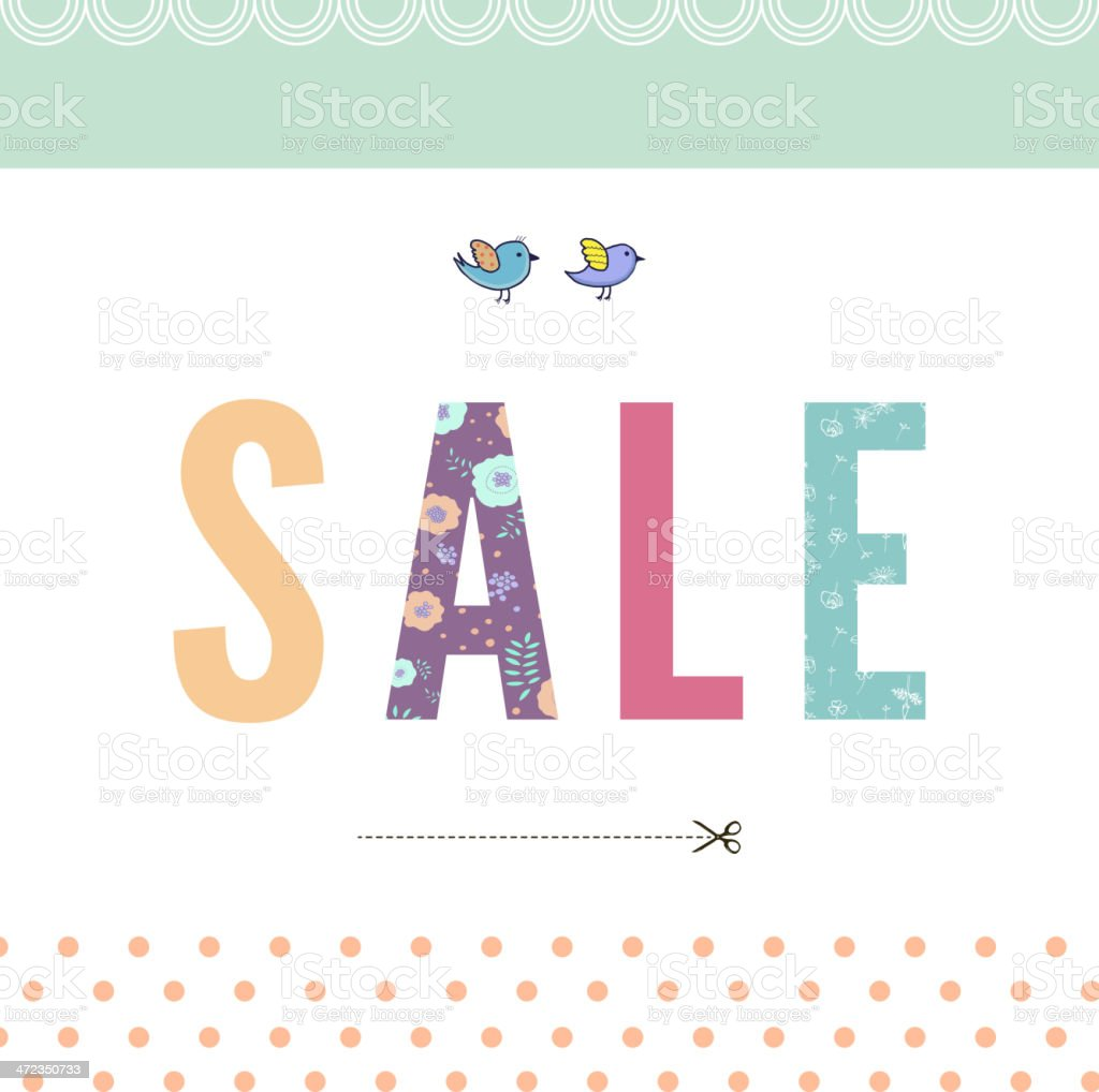 Sale! royalty-free stock vector art
