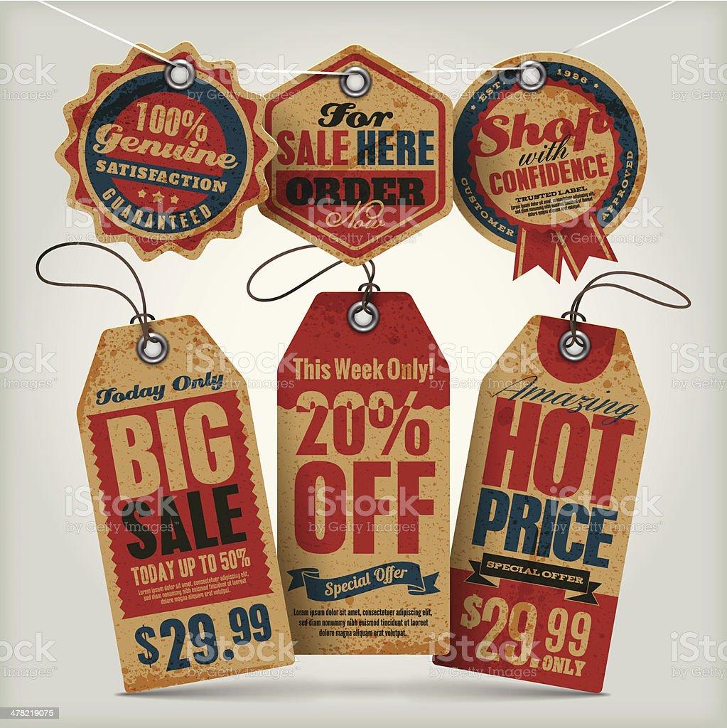 Sale Vintage Tags vector art illustration