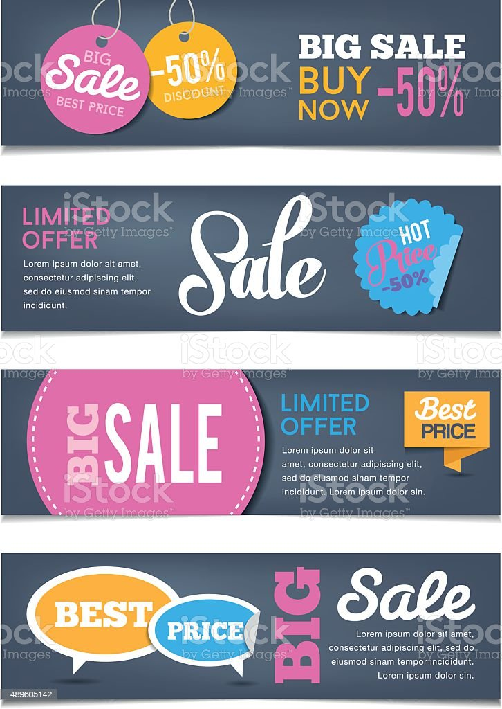 Sales Banners vector art illustration