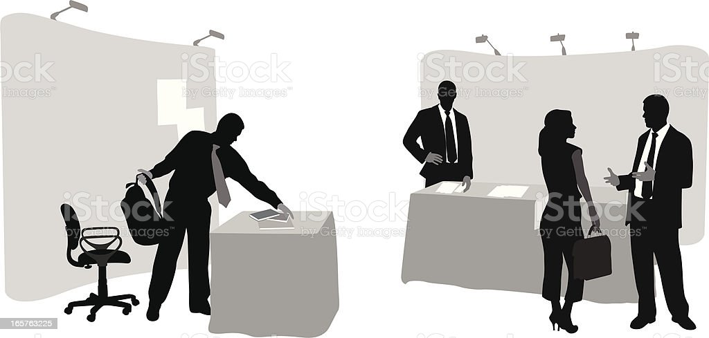 Sales Booth Vector Silhouette vector art illustration