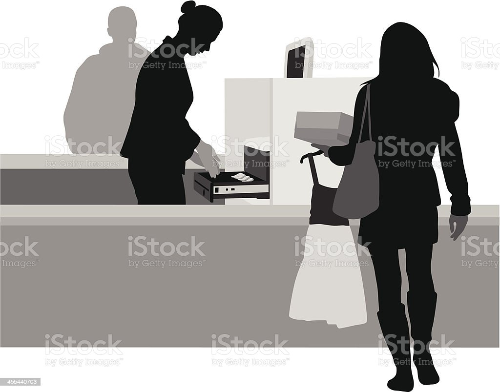 Sales Counter royalty-free stock vector art