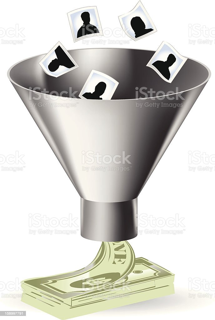 Sales Funnel royalty-free stock vector art