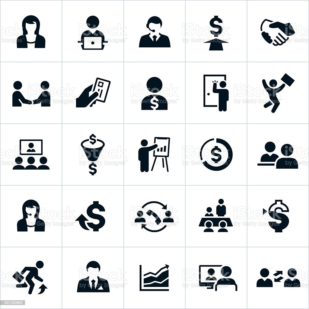 Sales Icons vector art illustration
