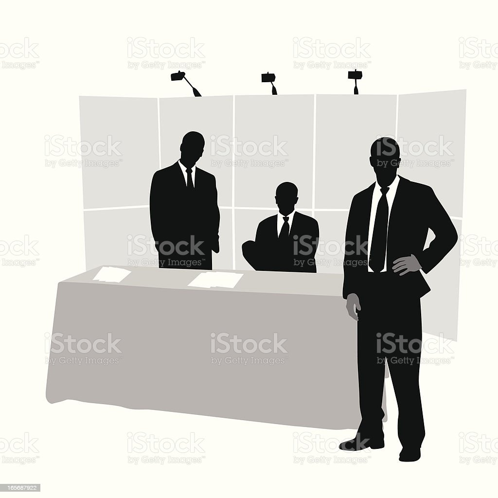 Sales Team Vector Silhouette royalty-free stock vector art