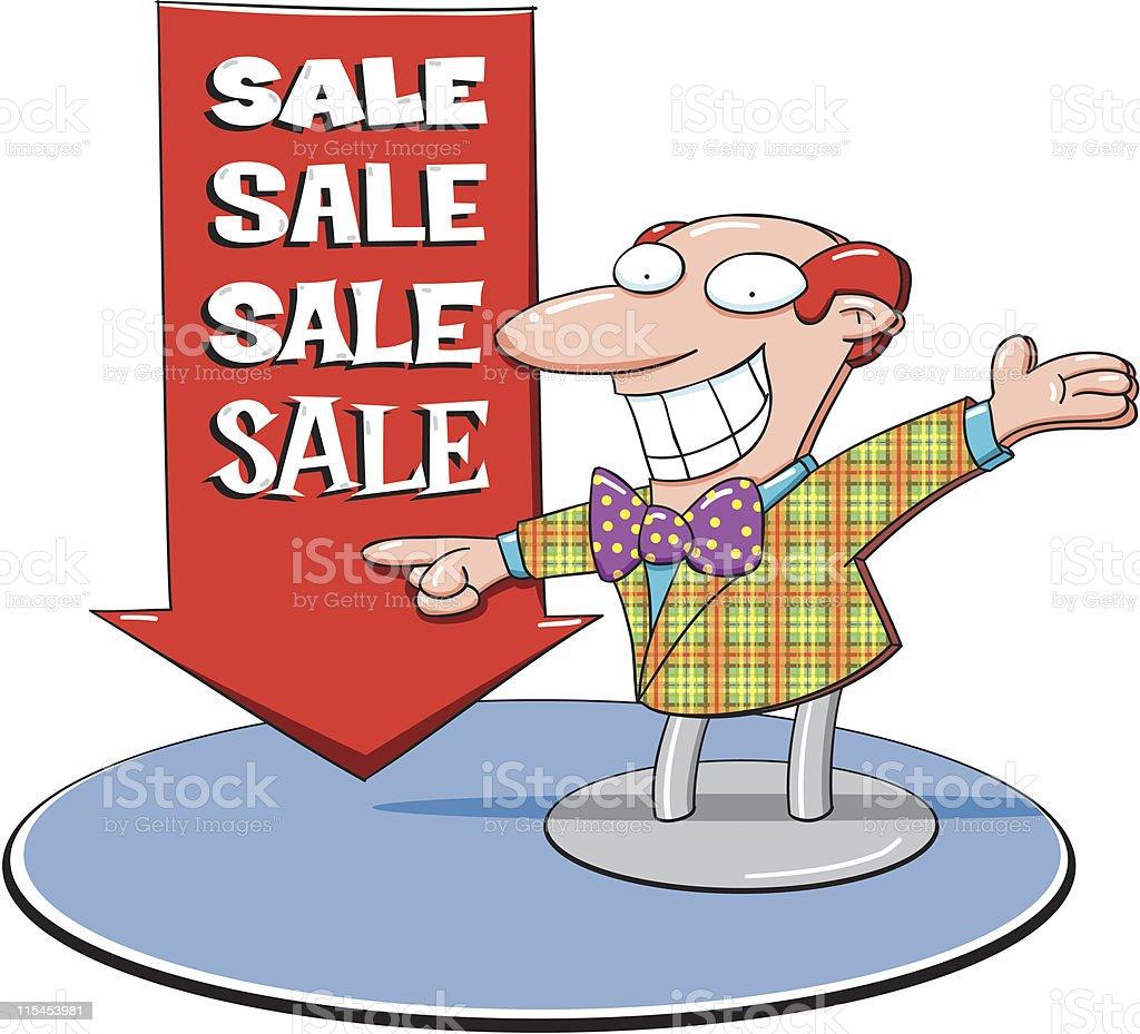 Sales vector art illustration